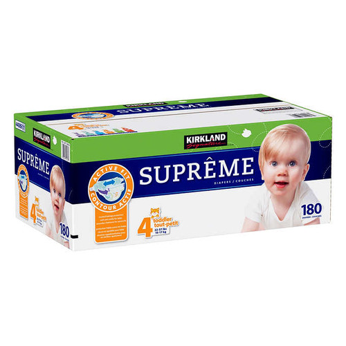 Kirkland Signature Supreme Size 4 Diapers Pack of 180
