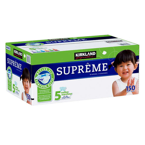 Kirkland Signature Supreme Size 5 Diapers Pack of 150