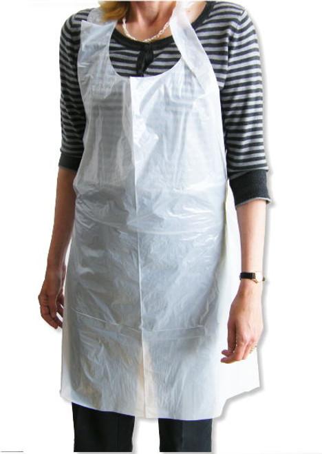 Disposabel White Apron 100/Pack