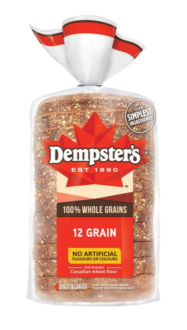 100% Whole Grain 12 Grains 1 Loaf