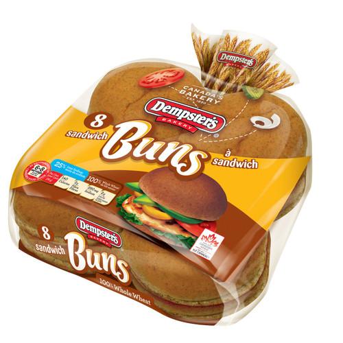 Hotdog Buns Whole Wheat 8's