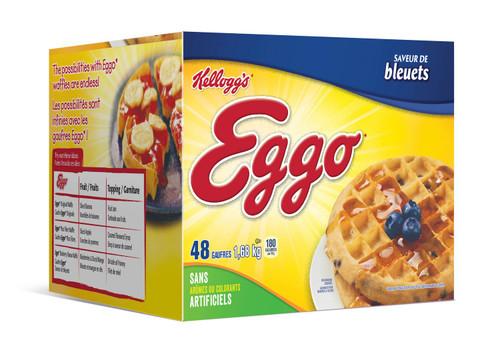 Waffles Blueberry - Kellogg's 48/pk