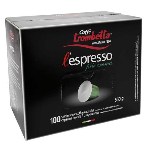 Café Trombetta Piu Crema Espresso 100 Capsules