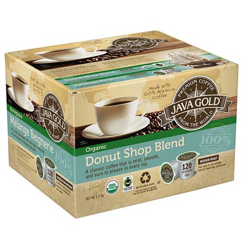 Java Golf Donut Shop Blend Med Roast K-Cups 120 Pods