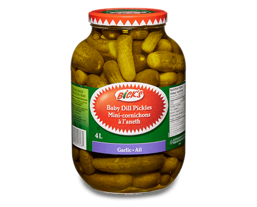 Baby Dill Pickles With Garlic 4L