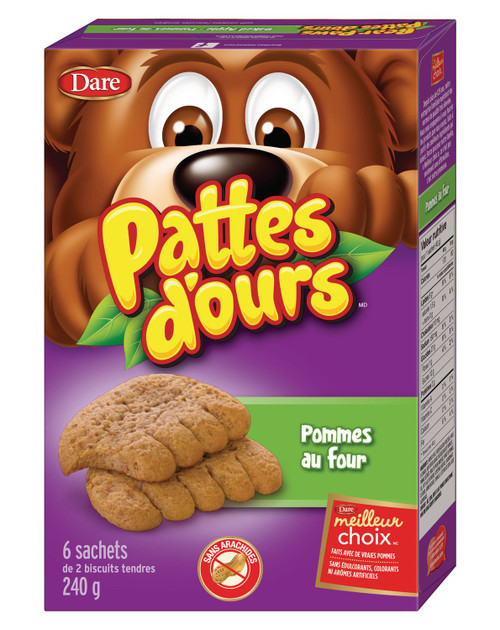Bear Paws Baked Apple Cookies 240g