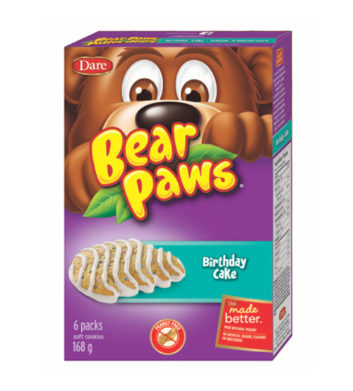Bear Paws Birthday Cake Soft Cookies 168g