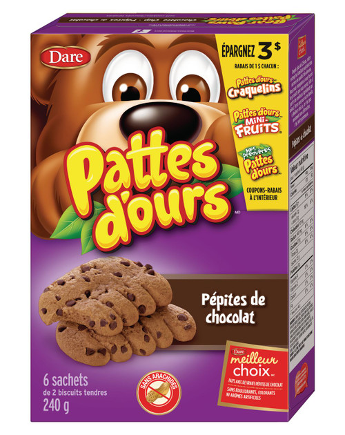 Bear Paws Chocolate Chip Cookies 240g