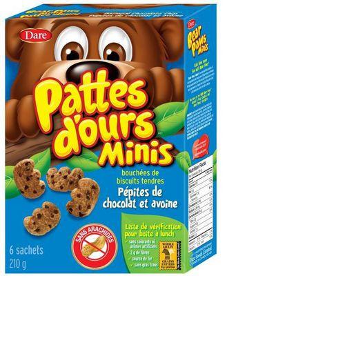 Bear Paws Minis Oatmeal & Chocolate Cookies 240g