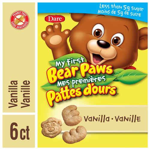 Bear Paws My First Vanilla Cookies 6x25g