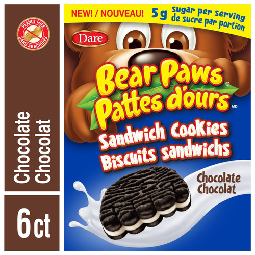 Bear Paws Sandwich Cookies Chocolate 168g