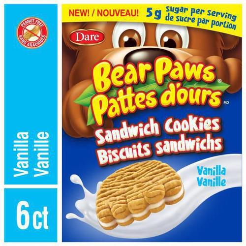 Bear Paws Vanilla Sandwich Cookies 168g