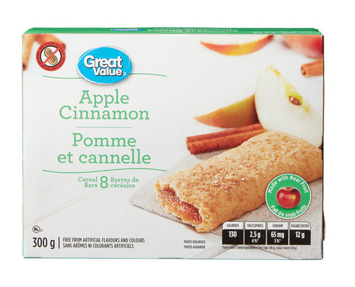 Apple Cinnamon Cereal Bars 8 Bars