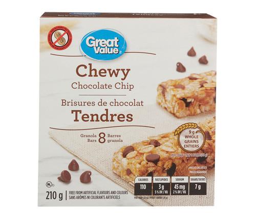 Chewy Chocolate Chip Bars 8 Bars