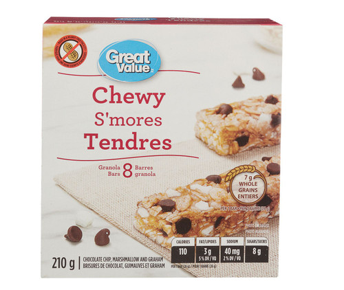 Chewy S'mores Granola Bars 8 Bars