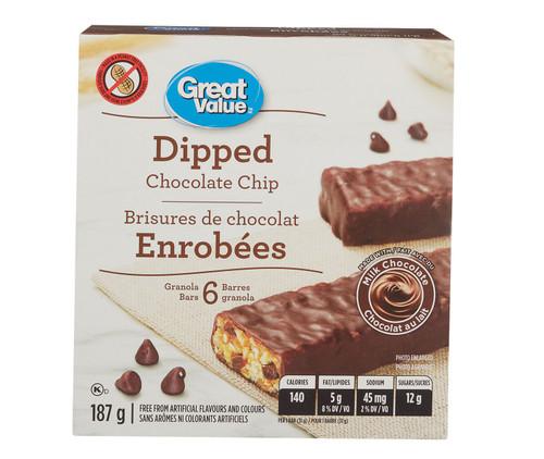 Chocolate Dipped Granola Bars, 6 Bars