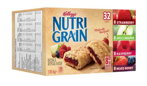 Kellogg's Nutri Grain Bars Variety Pack 32 Bars