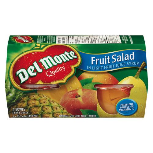 Del Monte Fruit Salad In Light Juice Syrup 4 Bowls