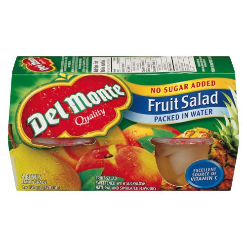 Del Monte Fruit Salad In Water 4 Bowls