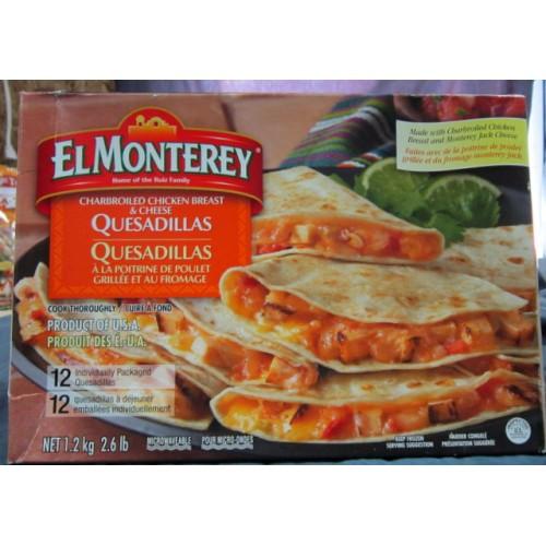 ElMonterey Chicken Quesadillas 12 ind Packaged 1.2kg
