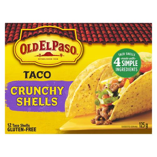 Gluten-Free Old El Paso Taco Crunchy Shells 125g