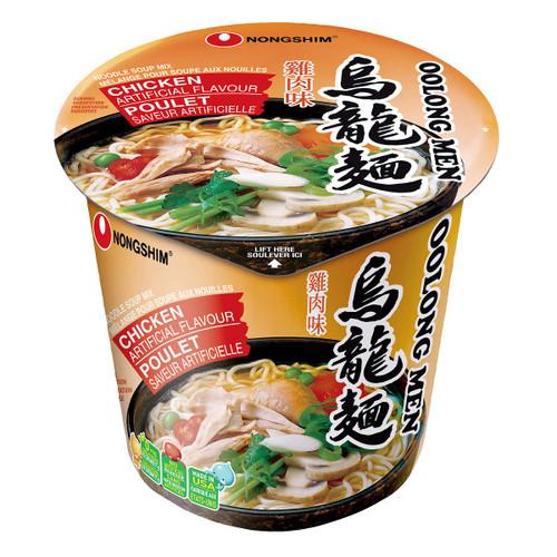 Nongshim Oolong Men Chicken Flavour Noodle Soup Cups 6x75g