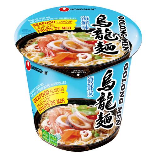 Nongshim Oolong Men Seafood Flavour Noodle Soup 6x75g