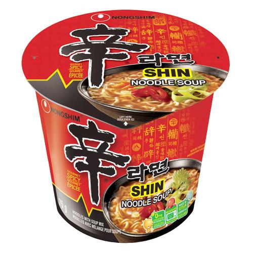 Nongshim Shin Noodle Soup Cups 6x75g