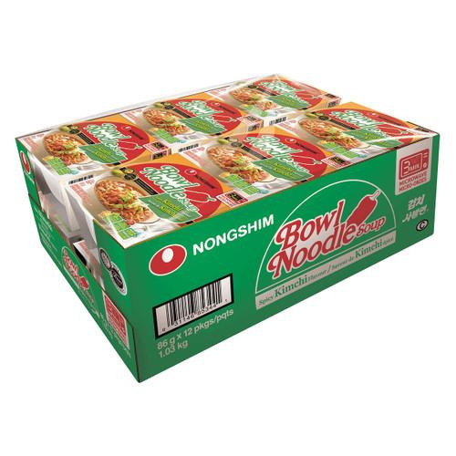 Nongshim Spicy Kimchi Noodle Soup Bowls 12x86g