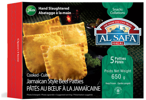 Al Safa Halal Cooked Jamaican Style Beef Patties  5 Patties