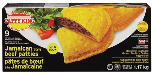 Patty King International Jamaican Style Patties - Mild Beef  9x130g