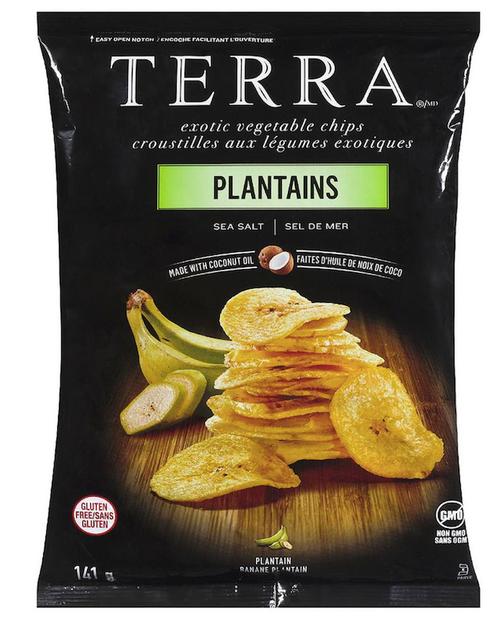 Terra Exotic Vegetable Chips Plantains Sea Salt 141g