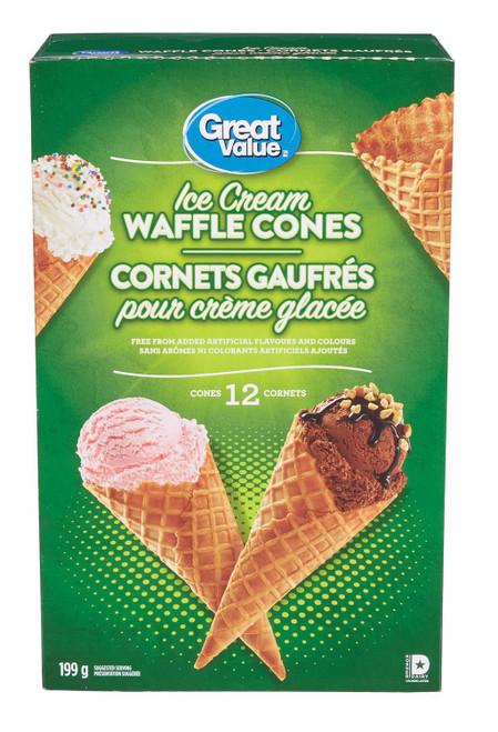 Ice Cream Waffle Cones 12's