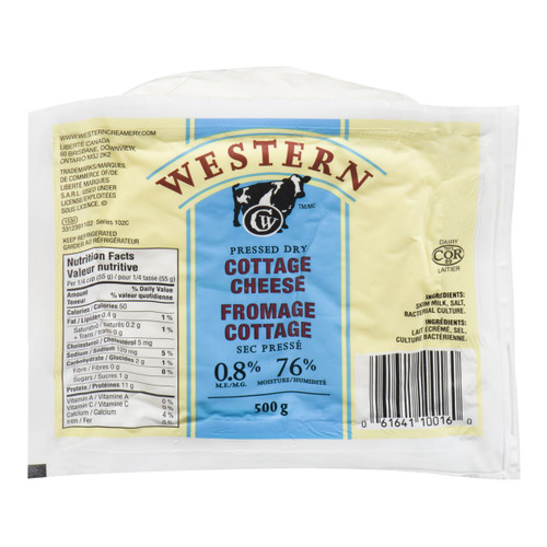 Pressed Cottage Cheese Low Sodium 500g