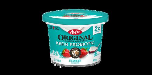 Astro Original Kefir Probiotic Yogurt Fruit On The Bottom Strawberry 500g