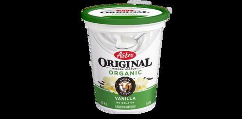 Astro Original Organic Balkan Style Yogurt Vanilla 650g