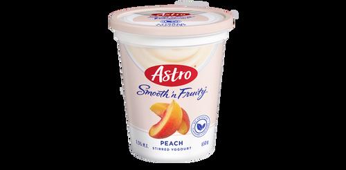 Astro Smooth 'N Fruity Yogurt Peach 650g