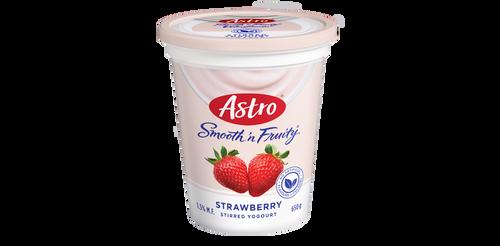 Astro Smooth 'N Fruity Yogurt Strawberry 650g