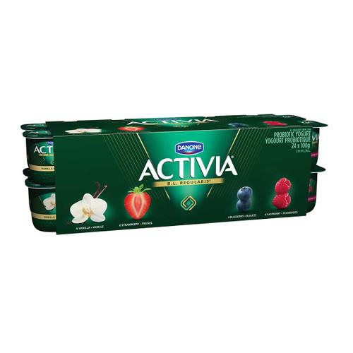 Activia Probiotic Yogurt 24x100g