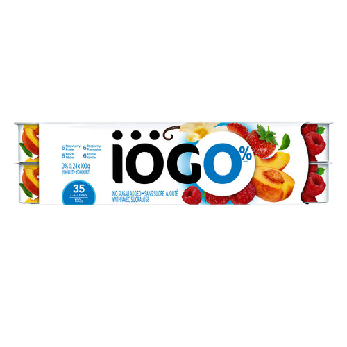 IOGO Yogurt 0% Assorted Fruit 24x100g