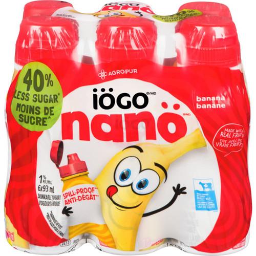 IOGO Nano Drinkable Yogurt Banana 1.5% 6x93mL