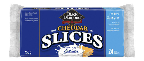 Black Diamond Cheddar Style Fat Free Thin Cheese Slices 24 Slices