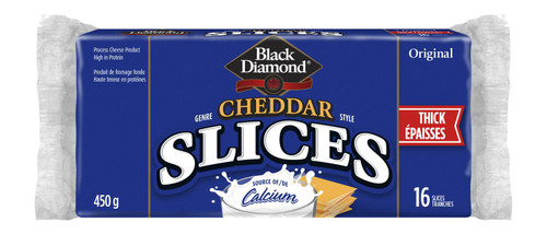 Black Diamond Cheddar Style Thick Cheese Original Slices 16 Slices