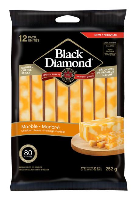 Black Diamond Natural Marble Cheese Sticks 12s
