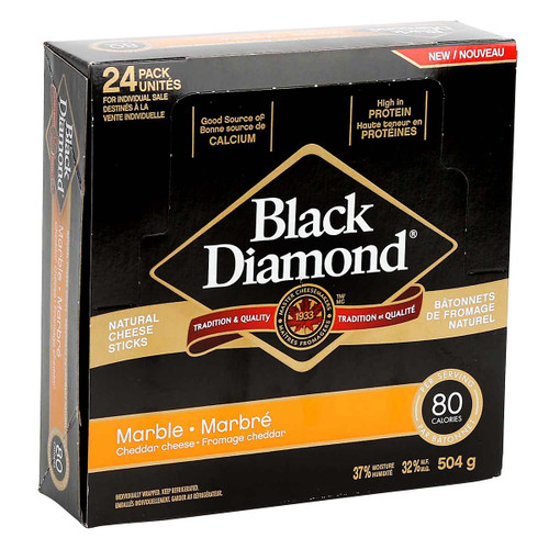 Black Diamond Natural Marble Cheese Sticks 24s