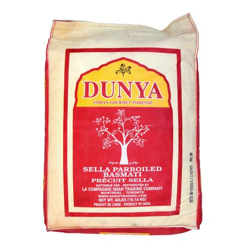 Dunya Sella Parboiled Basmati Rice 18.14kg