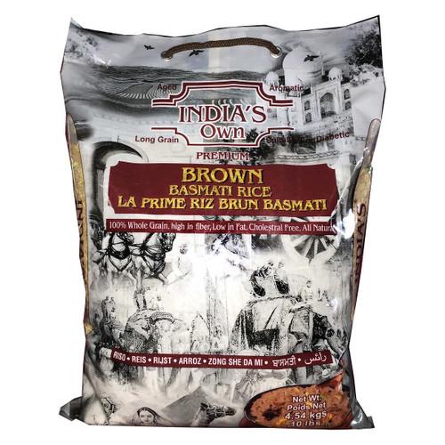 India's Own Premium Brown Basmati Rice 4.54kg