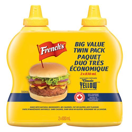 French Yellow Mustard 2x830mL