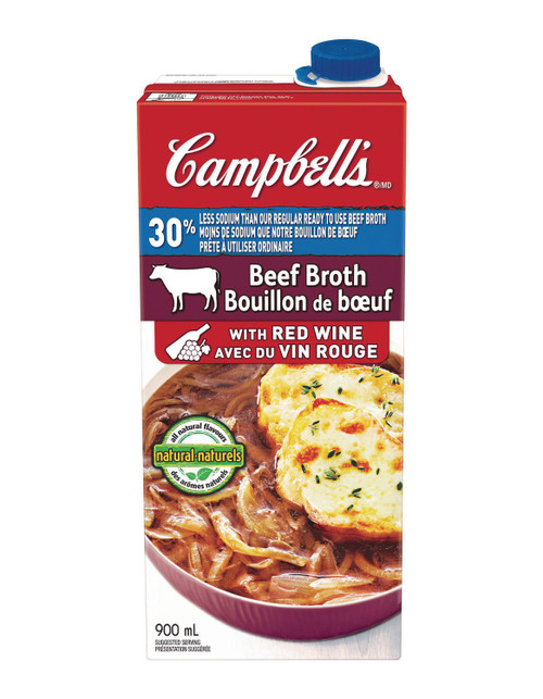 Campbell's Beef Broth with Red Wine with 30% Less Sodium 900mL
