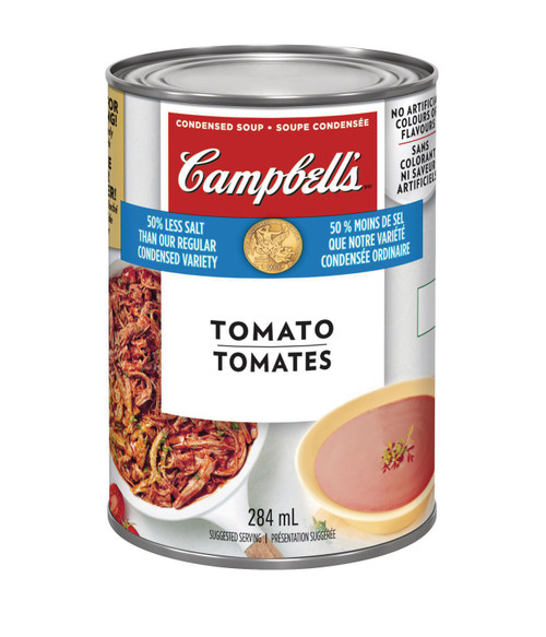 Campbell's 50% Less Sodium Tomato Condensed Soup 284mL